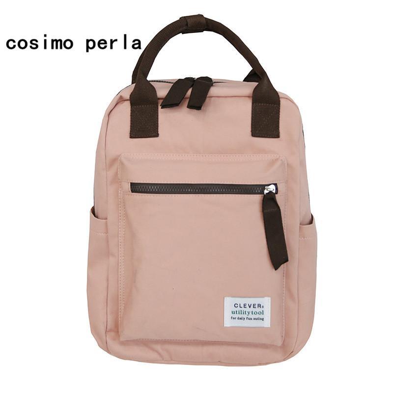 334bf50310 Brand Solid Square Canvas Backpacks Female Japan Style College Student  Travel Backpack Bag Top Handle Rucksack Girls 2018 Rolling Backpacks  Backpacks For ...