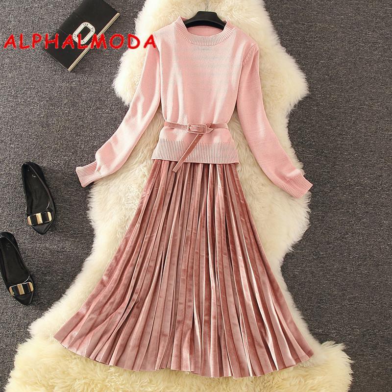 2018 Alphalmoda Autumn New Women S Costume Slim Pullover Sweater