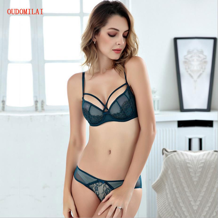 a298f2eb28 Wholesale Luxurious Sexy Women s Underwear Set Lace Embroidery Ultrathin  Transparent Bra Set Bandages Unlined Female Lingerie Online with  36.88 Set  on ...