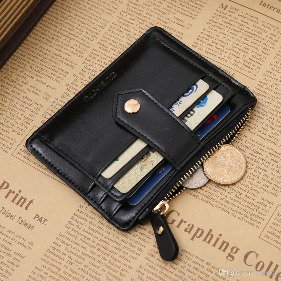 New Classic Zipper Hasp Coin Purse Black