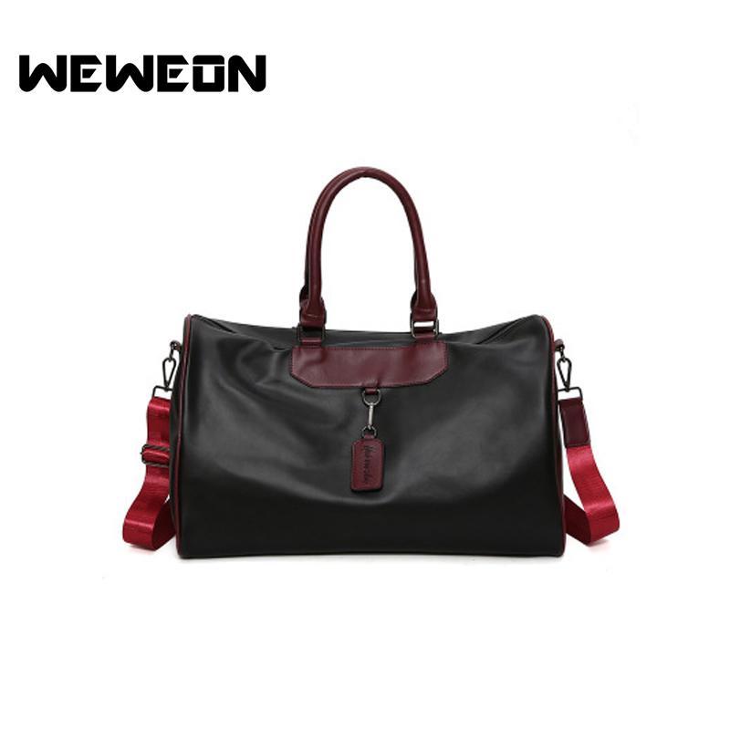 869dd66cb7 2018 Women Men PU Leather Waterproof Handbag Outdoor Fitness ...