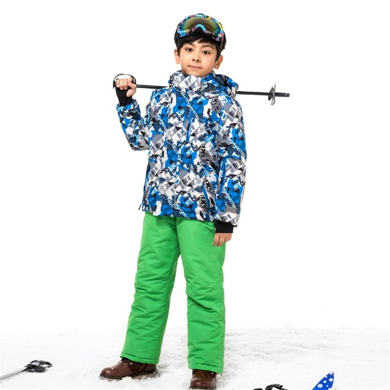 ae4f0384f0 2019 Kid Boys Skiing Jacket Pant Children Snow Suit 30 DEGREES Winter Ski  Snowboard Clothing Set For Boys 115 160cm From Cloudyday