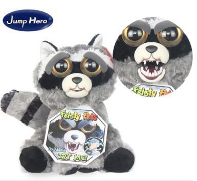 30types Feisty 애완 동물 1 초 얼굴 변경 동물 20CM 8 인치 봉제 인형 만화 TY 원숭이 베어 유니콘 인형 아기 아기 크리스마스 선물