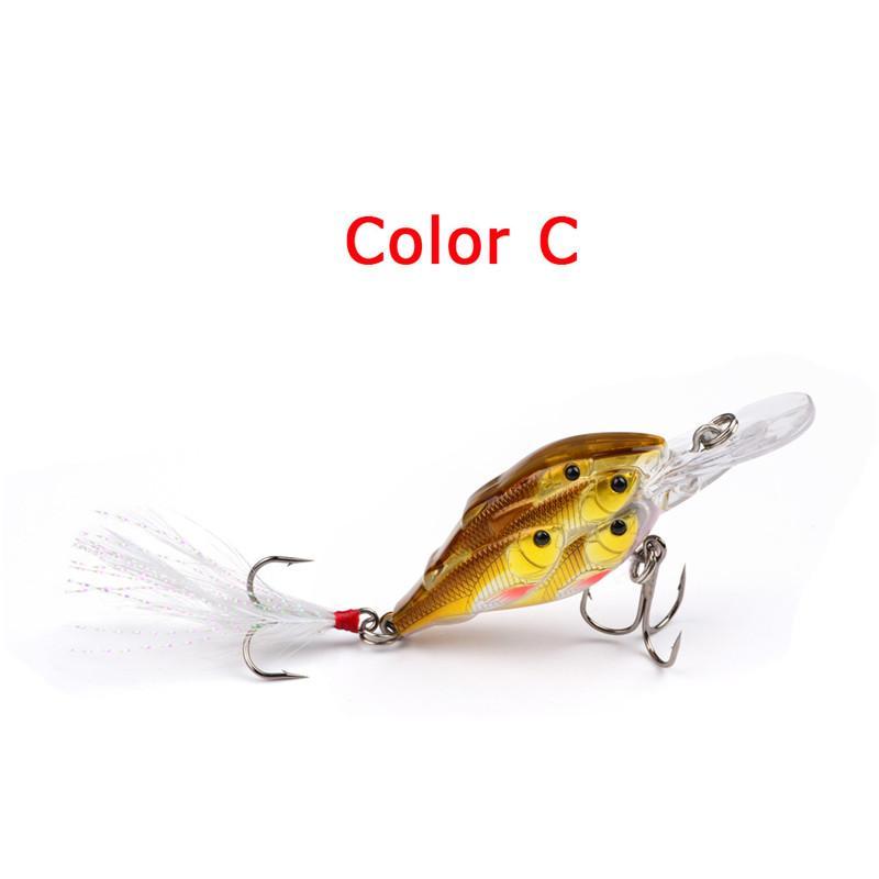 2018 Se précipite à la pêche Peche Trulinoya Marque Threadfin Shad Crankbait 70mm 6.2g Minnow Plastique Lure Appâts Vmc Crochet