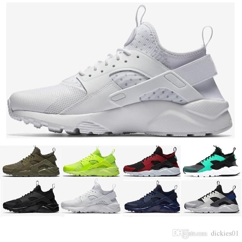 reputable site 8cade f0ed2 Compre Nike Air Huarache Run 2018 Nuevo Huarache Ultra Zapatos Para Correr  4 Hombres Y Mujeres Zapatillas De Deporte Huaraches Atléticas Cáncer De  Mama ...