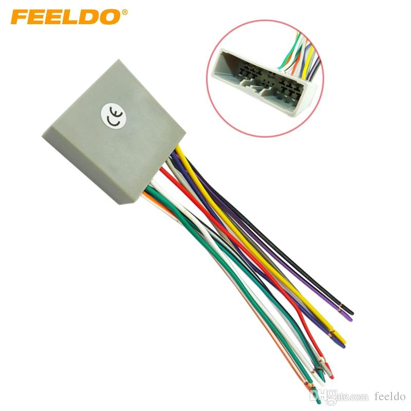 FEELDO Car CD Player Radio Audio Stereo Wiring Harness Adapter Plug for Honda 06-08/Civic/Fit/CRV/ACURA #2956
