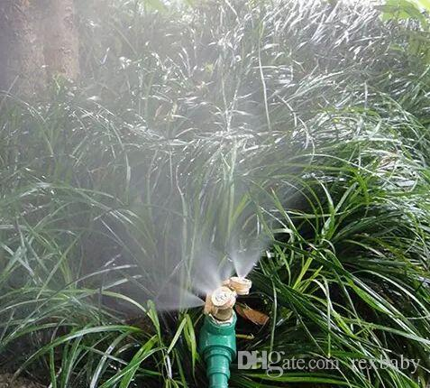 Ajustable Jardinería Pulverizador de latón Boquilla de nebulización Rociador de riego Herramientas de irrigación agrícola Equipos para césped Rociadores