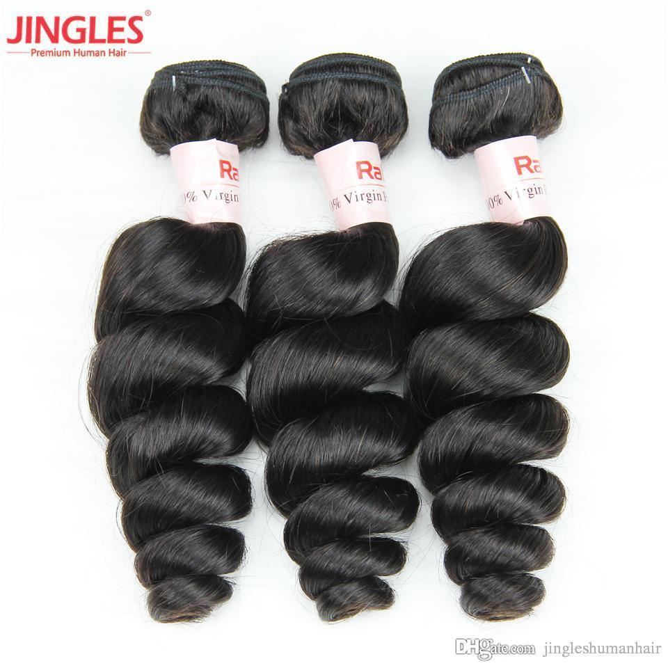 9a Jingleshair Brazilian Remy Human Hair Bundles Weaves Loose Wave