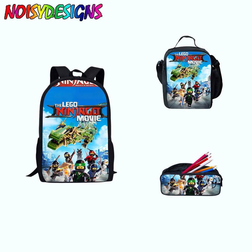 Games Ninjago Rugzak Bag Children School Bags Cartoon Movie Printed Shoulder Bags Backpacks Kids Boys Students Bag School Girl Luggage & Bags