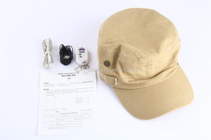 Bluetooth Baseball Cap Camera HD 1080P Remote Control Cap MINI DV DVR camera Hat Camcorder Video Recorder Camcorder Support TF Card