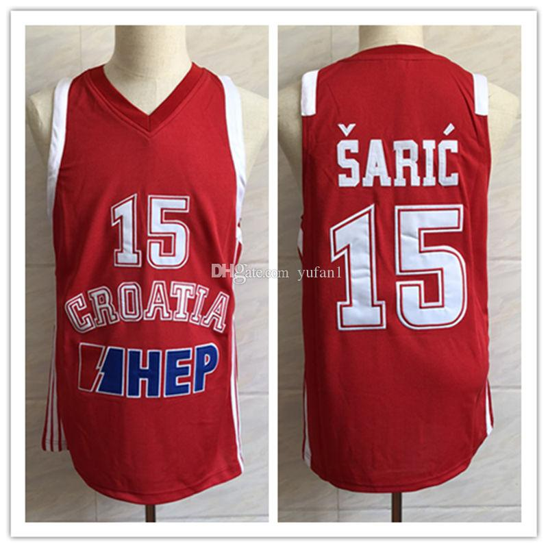 08df51e29fff 2019  15 Dario Saric Team Croatia Basketball Jersey Men S Embroidery  Stitched Custom Any Number And Name Jerseys From Yufan1