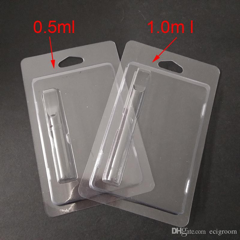Retail cartridge Packaging Plastic Clam Shell Blister Packing for 0.5ml/1ml Vape Cartridges 92A3 G2 th205 Vapor Packaging 510 Cart Packaging