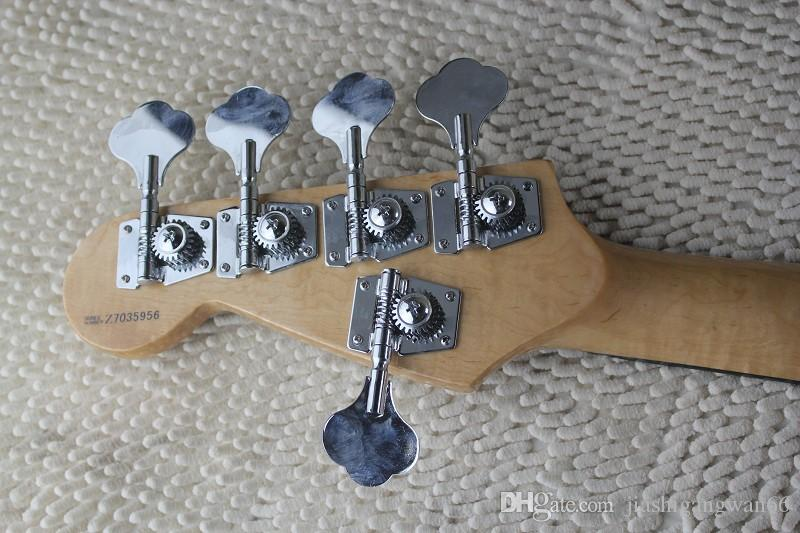 guitar jazz bass guitar 5 strings jazz Electric bass guitar with Vintage Active pickups with hardcase