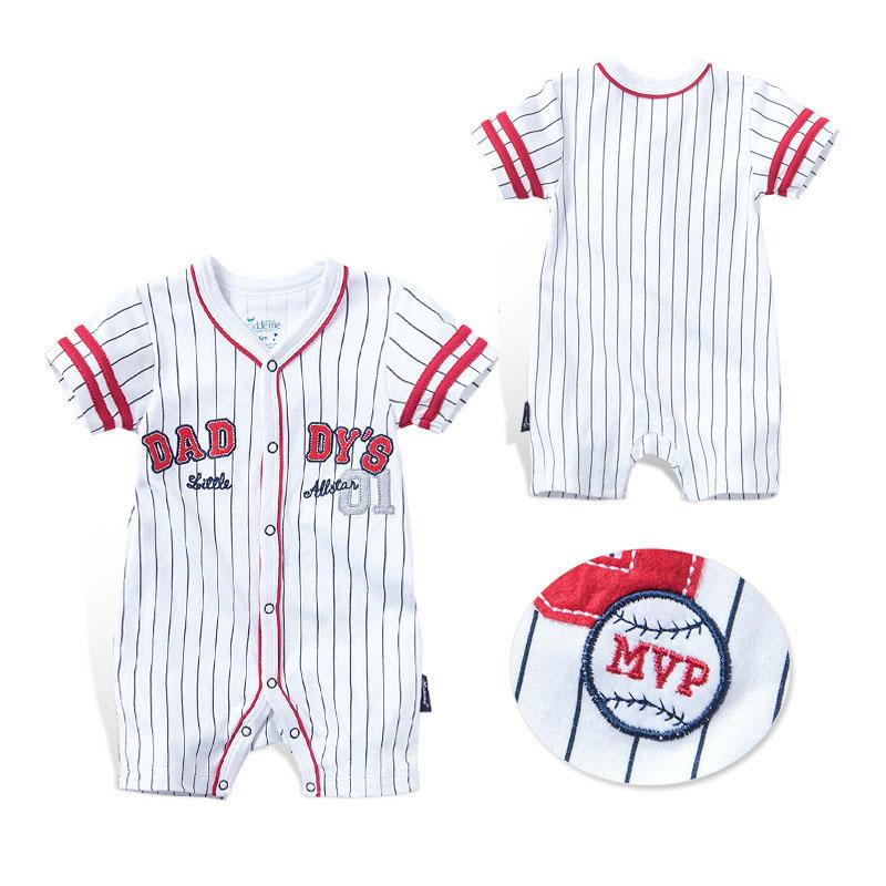 25c8b73d776 Summer Baby Rompers Boys Girls Clothes Striped Newborn Baby Jumpsuit ...