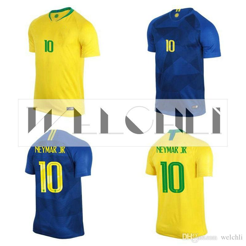 cea01e4d672 2019 Perfect 2018 World Cup Brasil Soccer Jersey Home Away Man Women Custom  G Jesus 9 P.Coutinho 11 Football Shirts Top Quality From Welchli