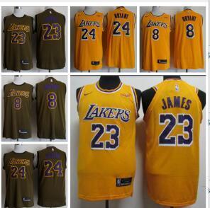 839dcd4b1df 23 LeBron James Los Angeles Laker 24 Kobe Bryant 8Kobe Bryant Men s ...