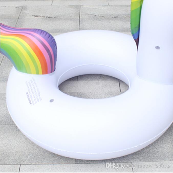 Gigante Unicornio Flota Unicornio Inflable Piscina Flotante Juguetes Para Adultos Niños Unicornio Anillos de Natación Para Mujeres Nadar Accessary