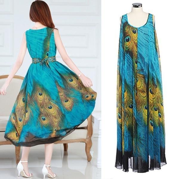 Peacock Dresses Teens Casual