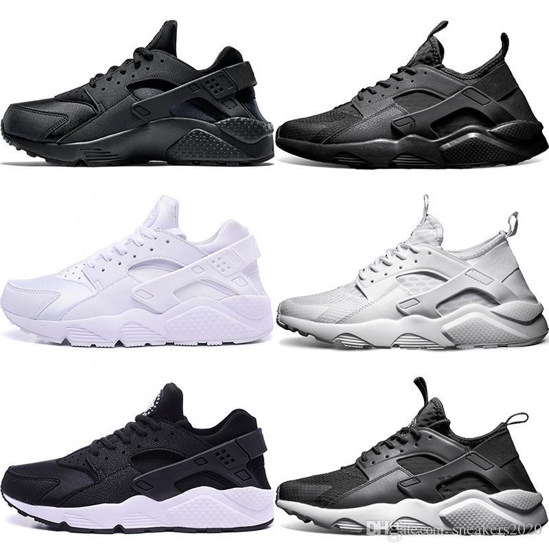 067a7a9d3 Nike Air Huarache 4 IV Hombres Mujeres Zapatillas De Running Ultra Triple  Negro Blanco Rojo Oreo Huaraches Sport Sneaker Talla 5.5 11 Descuento En  Línea ...