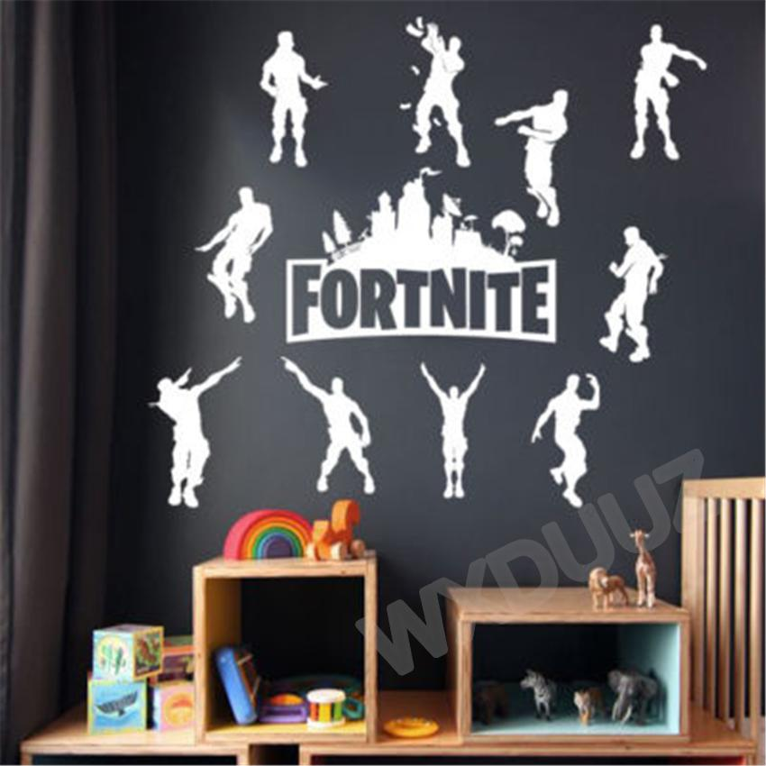 fortnite wall sticker xbox ps4 art vinyl decal game room graphic