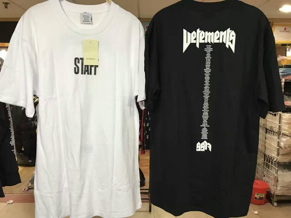 0928d9e9cb70 2017 NEW Justin Bieber STAFF VETEMENTS Black White Men Short Sleeve T Shirt  HIP HOP Kanye West Brand Fashion Casual Cotton Tee Best Site For T Shirts  Funny ...