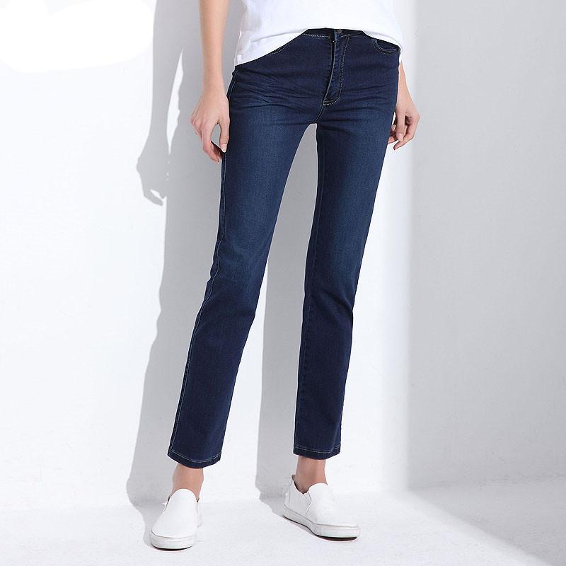19b8f7c7b Compre Mulheres Jeans Grande Plus Size Cintura Alta Primavera 2018 Azul  Elástico Longo Skinny Magro Calças Jeans Para As Mulheres 27 38 Tamanho De  ...