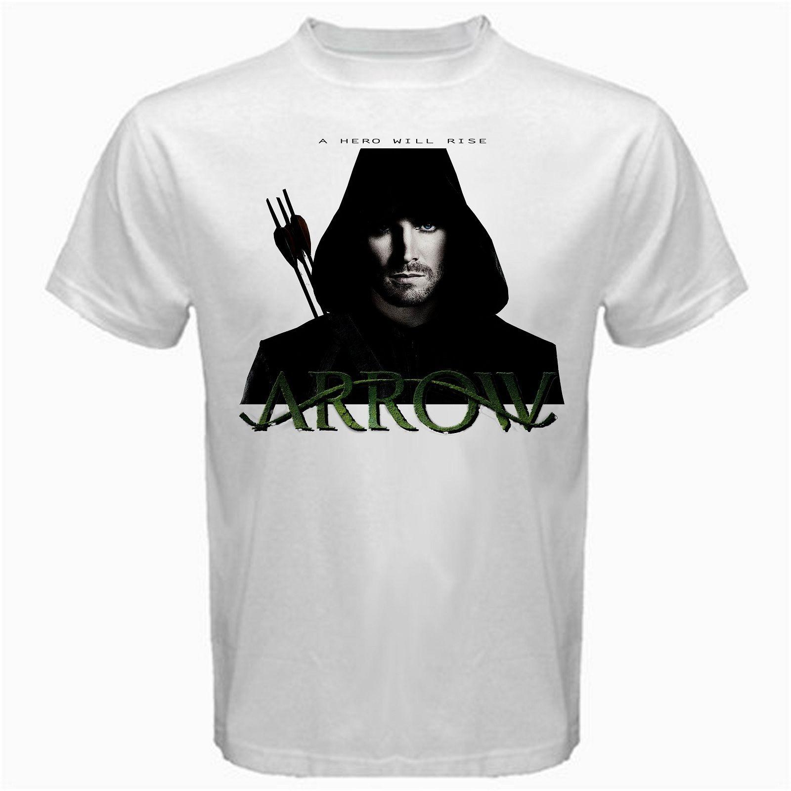 The Green Arrow Dc Comics Series Tshirt White Justice Funny Print