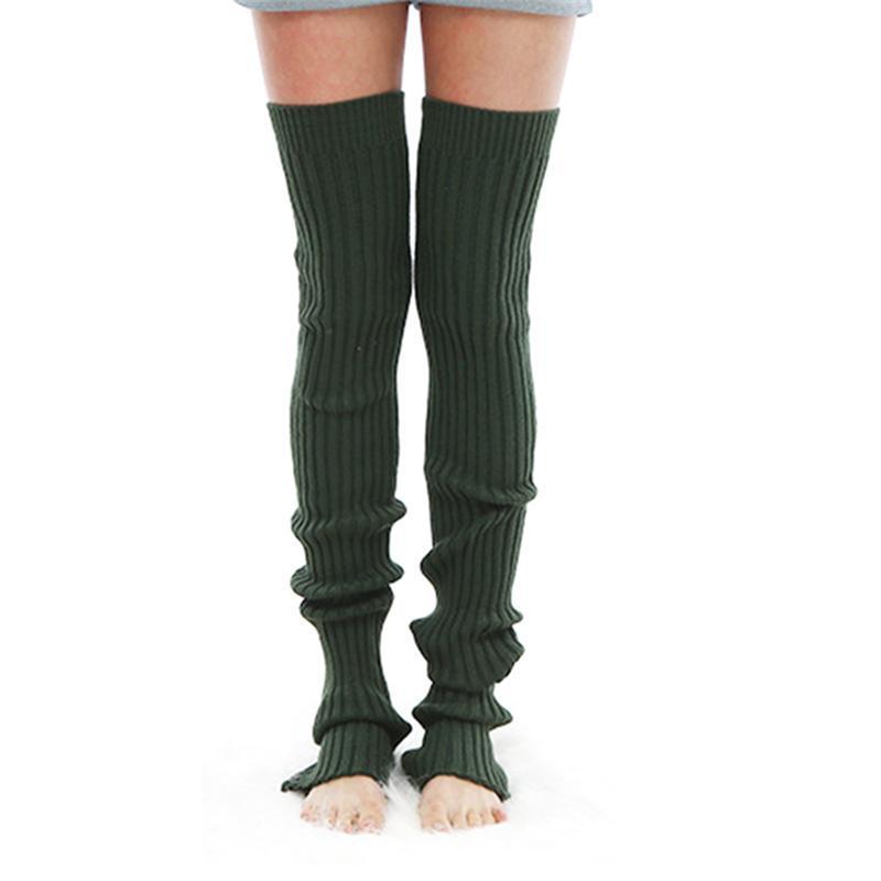 New Women Yoga Socks Over Knee Long Stockings Knitted Leg Warmer Fitness Dance