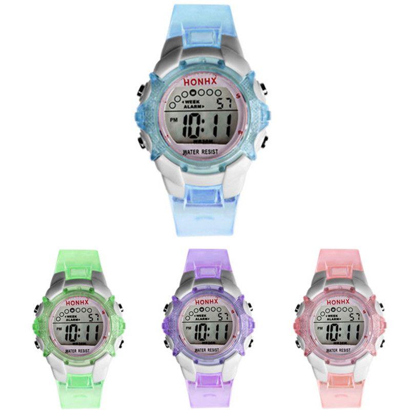 Fashion Children Watch Girls Boys Digital Sport Led Electronic Waterproof Wrist Watch For Children Clock Gift Montre Enfant 100% High Quality Materials Children's Watches