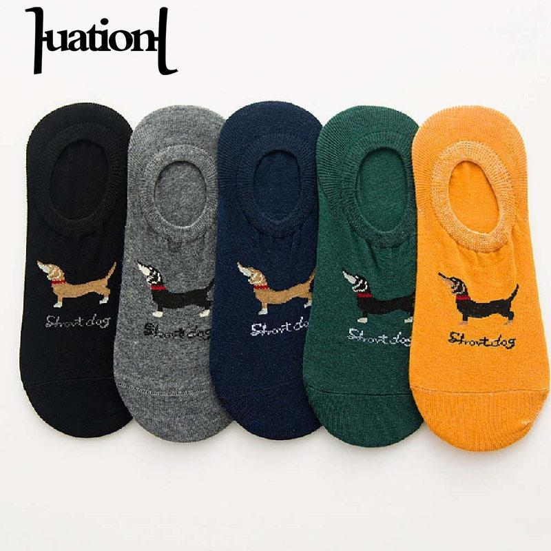 c8d9b51fcfde 2019 Huation 2017 Cartoon Happy Socks Slippers Men No Show Silicone  Invisible Shallow Non Slip Mens Novelty Socks Chaussette Homme From  Watchlove