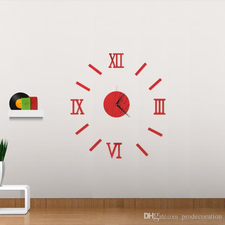 3d creatively romae digital wall clock sticker watch modern design