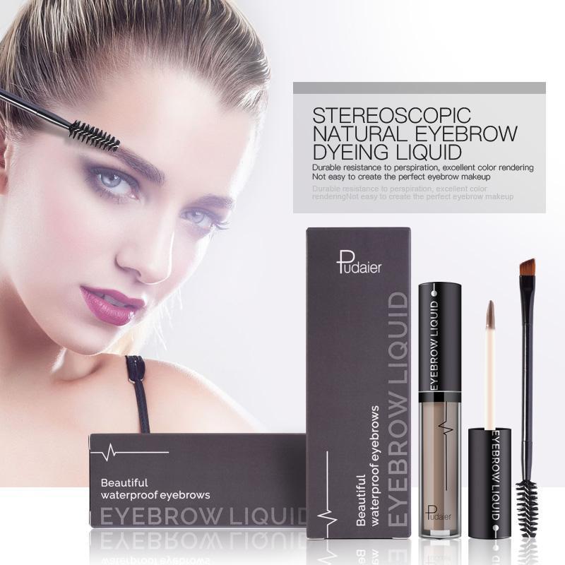 Pudaier Eyebrow Cream Liquid Eyebrow Enhancer Makeup Waterproof Long