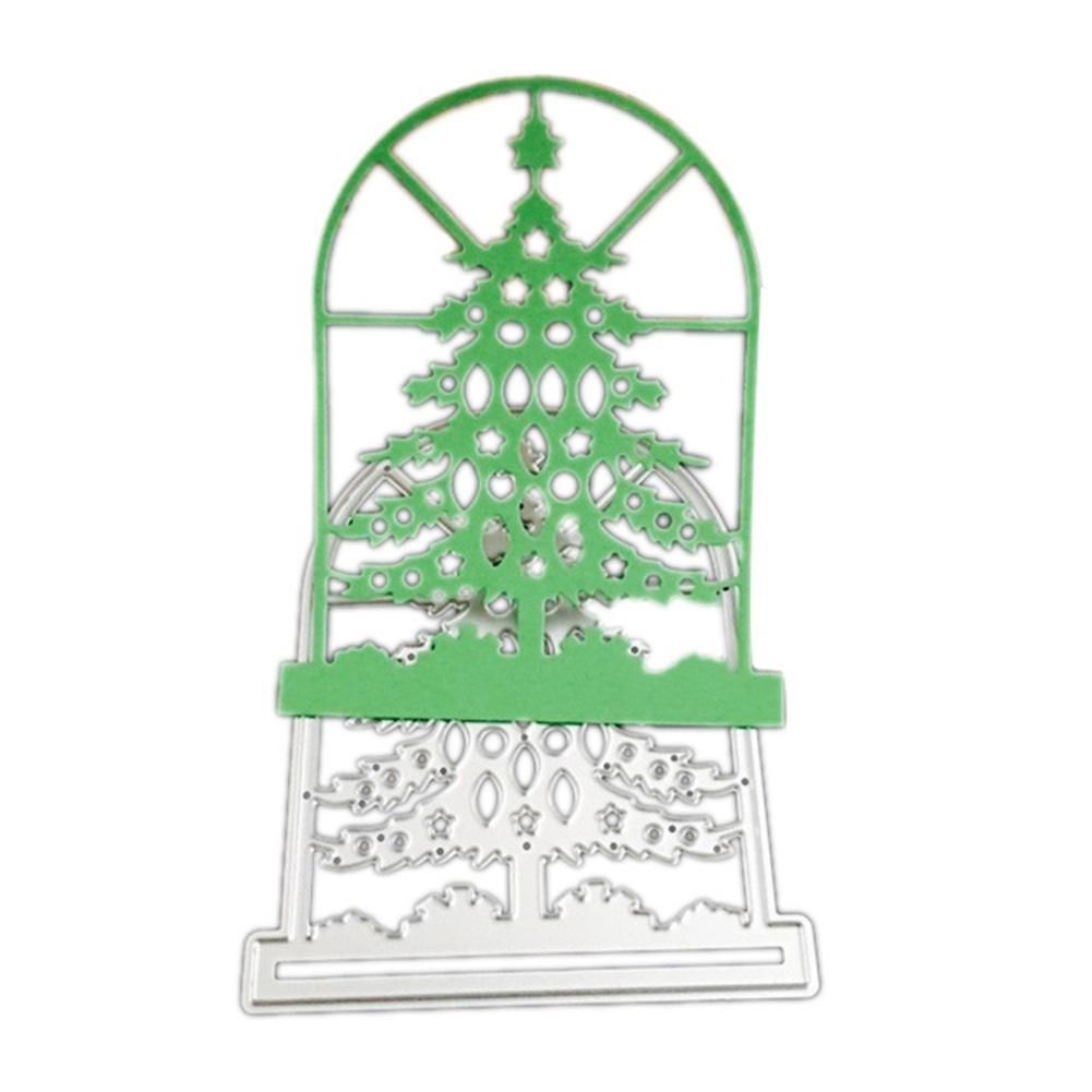 Metal Christmas Tree.Window Tree Metal Cutting Dies Steel Embossing Template Cutting Die Stencil For Diy Christmas Tree Scrapbooking Album Paper Card