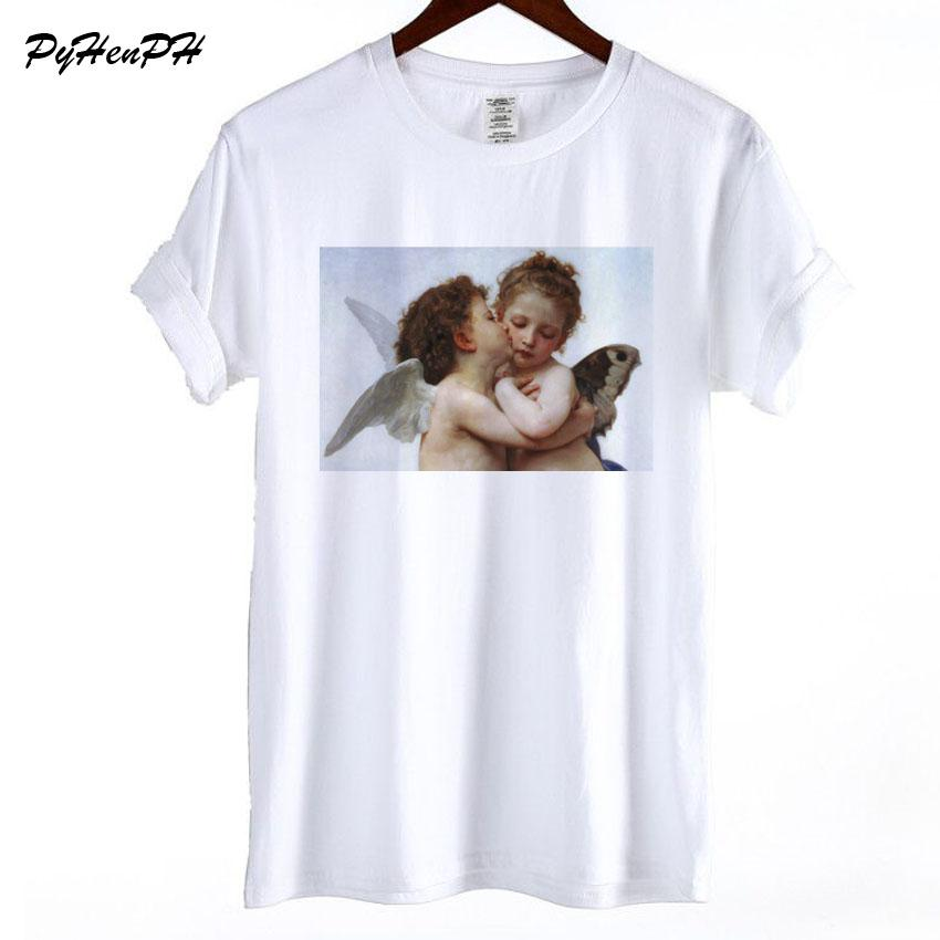 Verano Mujer Angel Baby Camiseta Compre Nuevo Imprimir Kawaii Casual xzSpxqw8n
