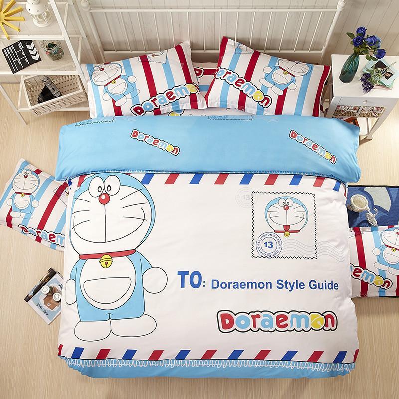 Fashion Cartoon Hello Kitty Doraemon Minions Children Bedding Sets 3 Bed  Set Duvet Cover Bed Sheet Pillowcase Twin Queen Boys Bedding Set Buy Duvet  Covers ...