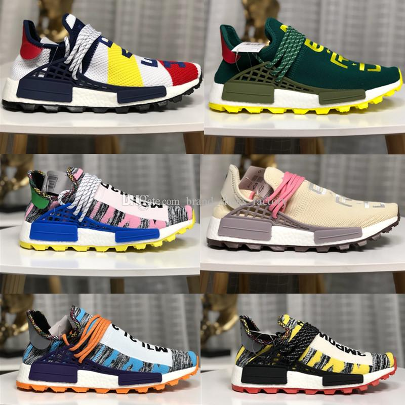 1672574ae Pharrell Williams Trail Human Race Running Sneakers Mens Designer Shoes  Womens Shoes Running Shoes Trainers Sneaker Designer Sneakers Sports Shorts  Shoe ...