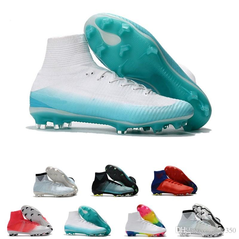 2018 Men Kids Women Mercurial Superfly CR7 V FG AG Football Boots Cristiano  Ronaldo High Tops Neymar JR ACC Soccer Shoes Soccer Cleats Canada 2019 From  ... 9bec70e202c