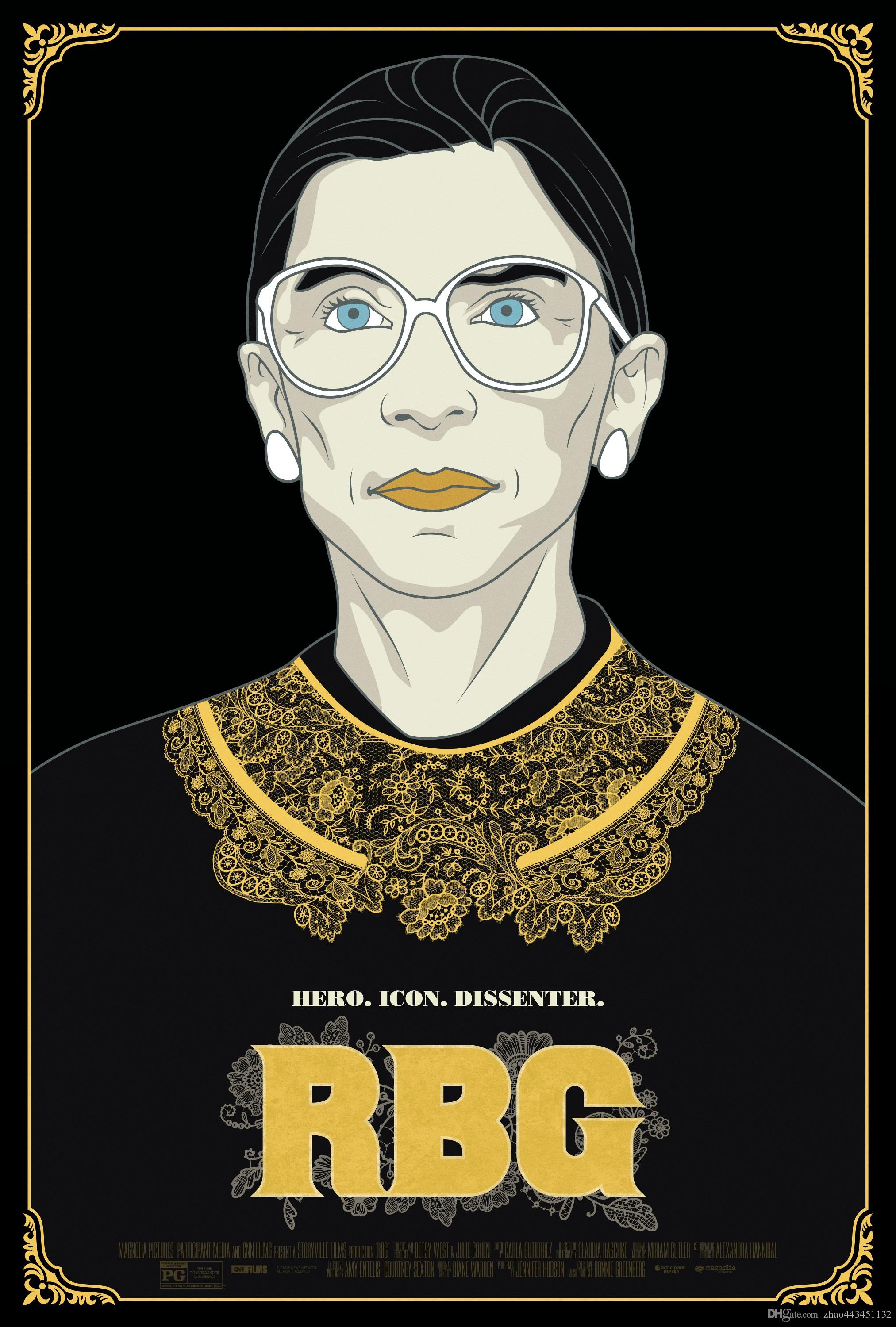 2018 new rbg poster art silk printing 24x36 27x40 inch online with