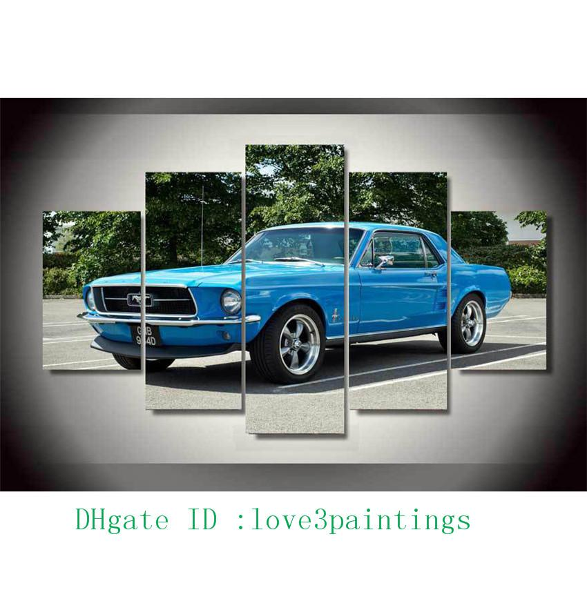 Ford Home Decor | 2018 Ford Mustang Muscle Car 1 Home Decor Hd Printed Modern Art