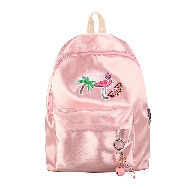 Fashion Women Harajuku Flamingo Embroidery Bag Backpacks Female With  Flamingoes Travel Backpack School Bag Pack Sac A Dos Femme Best Backpack  Designer ... ac3e00335