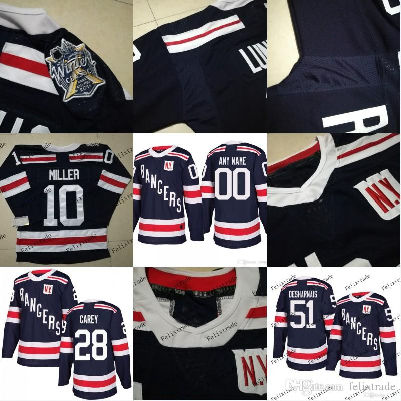 competitive price e9d23 ca700 New York Rangers 2018 Winter Classic Jersey 28 Paul Carey 51 David  Desharnais 10 J.T. Miller 24 Boo Nieves Stiching Hockey Jerseys