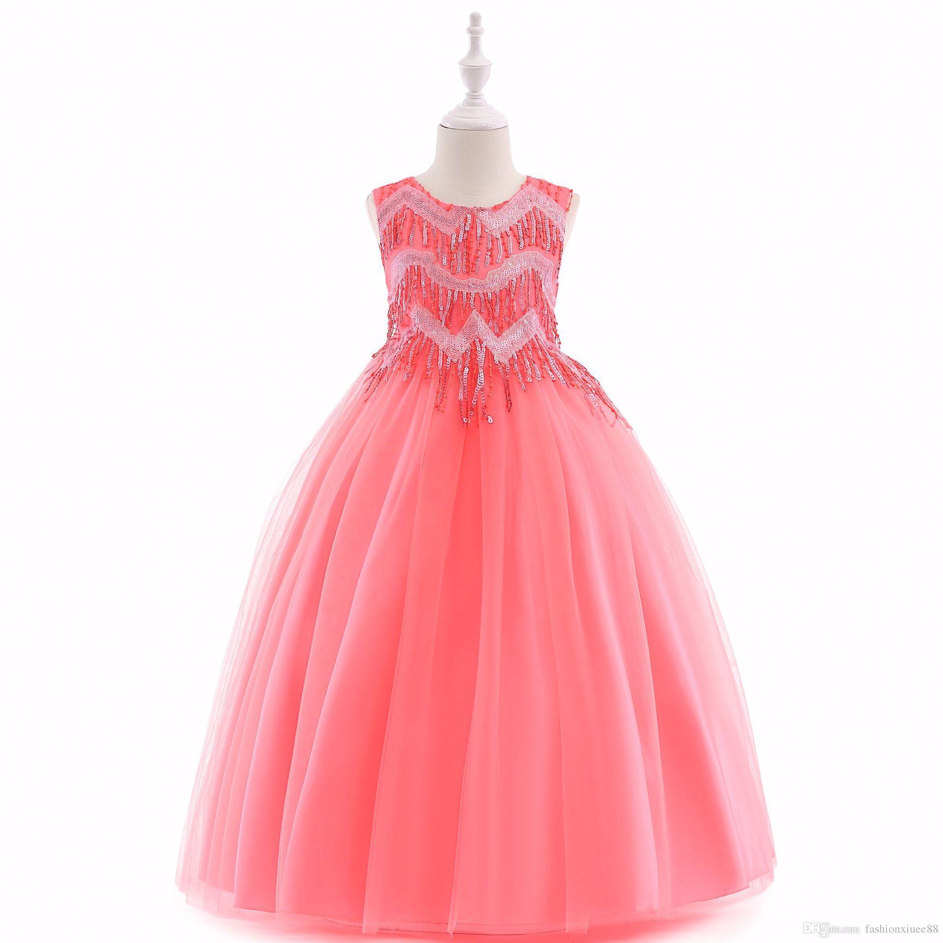 80ae6b6c3c7 2018 Lace Flower Girls Dresses Tulle Lovely Little Kids Skirts Tea Length  Princess Communion Birthday Gowns LP 206 Flower Girl Dresses 18 Months  Flower Girl ...