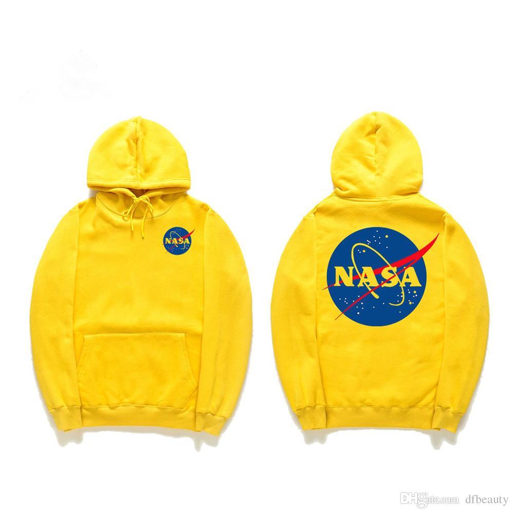 Outono inverno maré marca mens designer nasa hoodies preto cinzento cáqui unisex pullover hoodie hoodie hoodie hooded camisola amantes camisolas