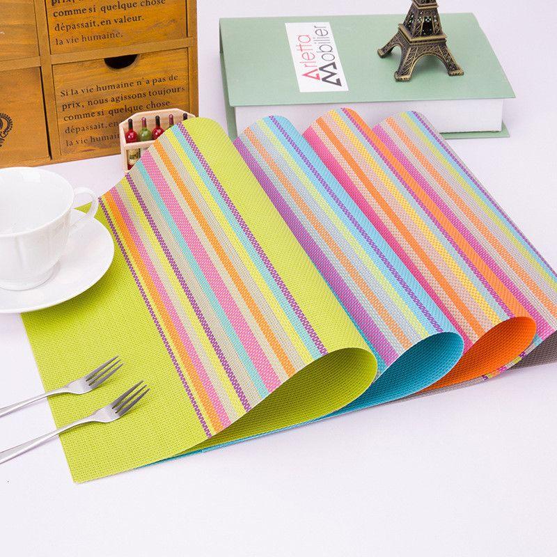 2018 Pvc Placemat Dining Table Mats Set De Bowl Pad Napkin Tray Mat Coasters Kids 3045cm From Diaolan 3178