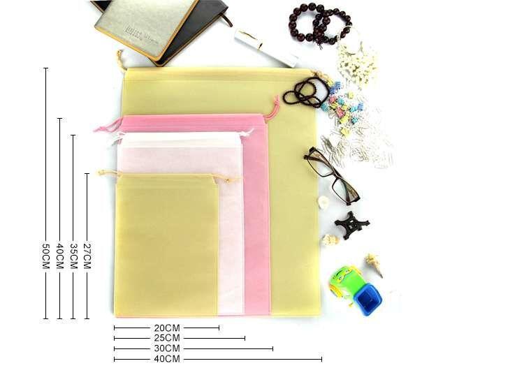 7x8cm Non Woven Kleidung Lagerung Staubbeutel Verpackung für Handtasche Reisen Kleinigkeiten Lagerung Pull Seil Free Shipp