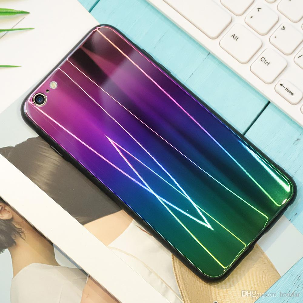 2018 Free shipping For Samsung S8 aurora case changing color aurora phone case for Samsung S8 S9 mobile case