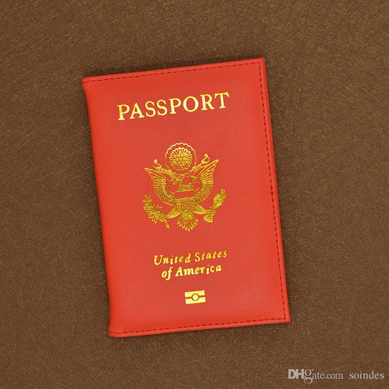 Süße PU Leder USA Passport Cover Pink Frauen Passport Card Inhaber Marke American Wallet Covers für Pässe Girls America Passport