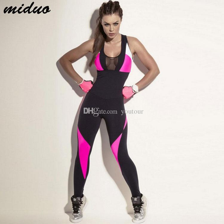 6b7737b65c Women Fitness Yoga Set Gym Sports Running Jumpsuits Jogging Dance Tracksuit  Breathable Quick Dry Sportswear Clothes Suit Online with $17.54/Piece on ...