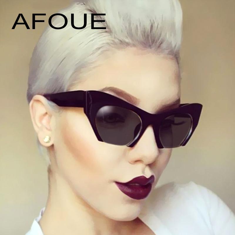 Compre AFOUE Gafas De Sol Nuevas Semi Sin Rebordes Mujeres 2018 Diseñador  De La Marca Lente Clara Gafas De Sol Para Mujeres Gafas De Sol De Moda Gafas  UV400 ... d2cef1280adf