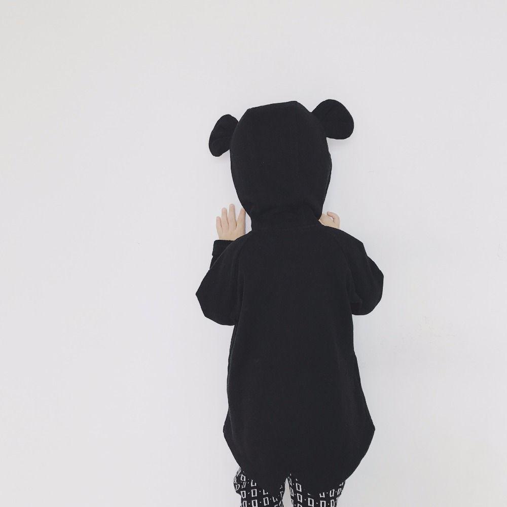 GOOPORSON Boys Jacket Black Lovley Bear Hoody Autumn Coat Long Sleeve Unisex Outerwear Winter Children Coats Kids Jackets